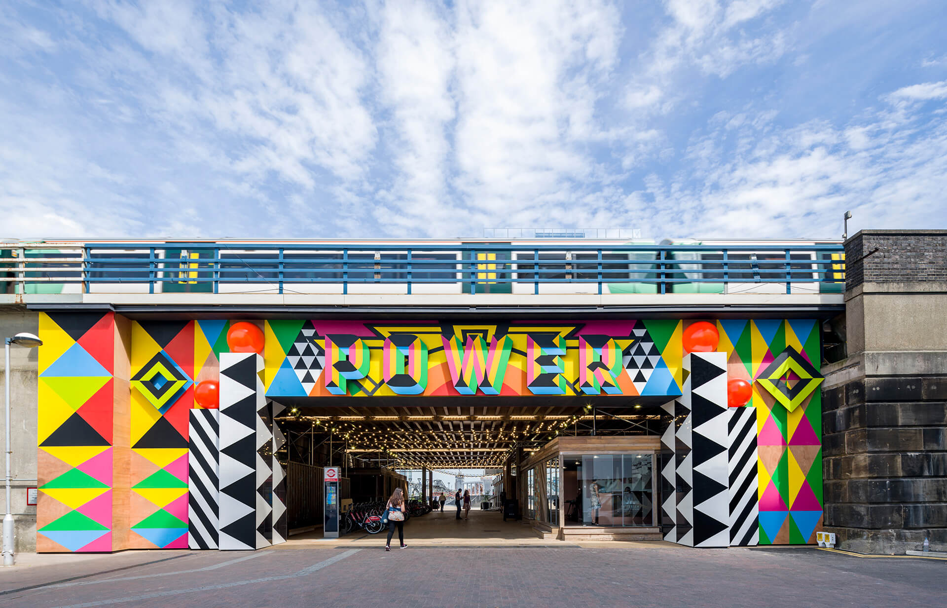 Myerscough's permanent site outdoor public art installation Power at Battersea Power Station, London | Morag Myerscough | Women in Design 2020+| STIRworld