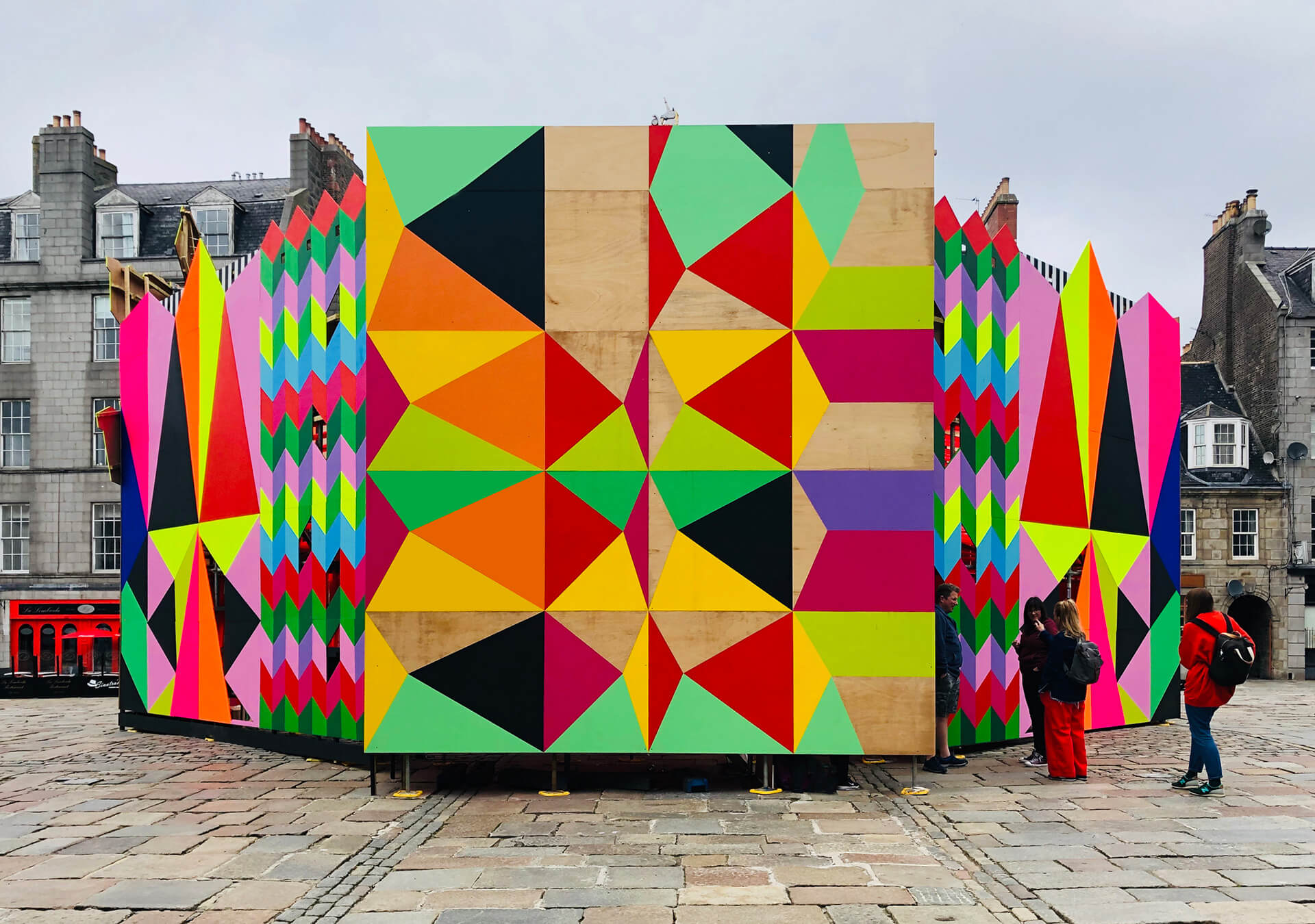 The bold colours and eclectic designs symbolise artist's own sensibility and style | Morag Myerscough | Women in Design 2020+ | STIRworld