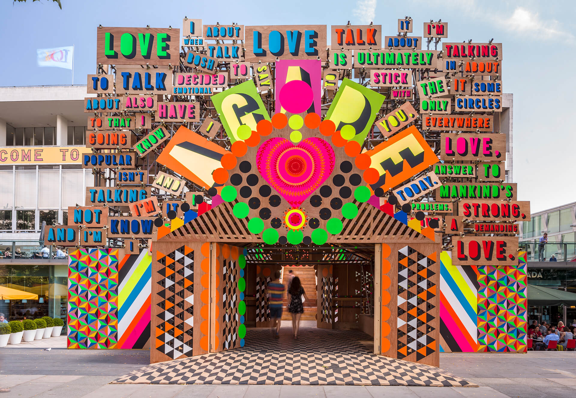 The Temple of Agape designed by Morag Myerscough and Luke Morgan for the Festival of Love in London in 2014 | Morag Myerscough | Women in Design 2020 + | STIRworld