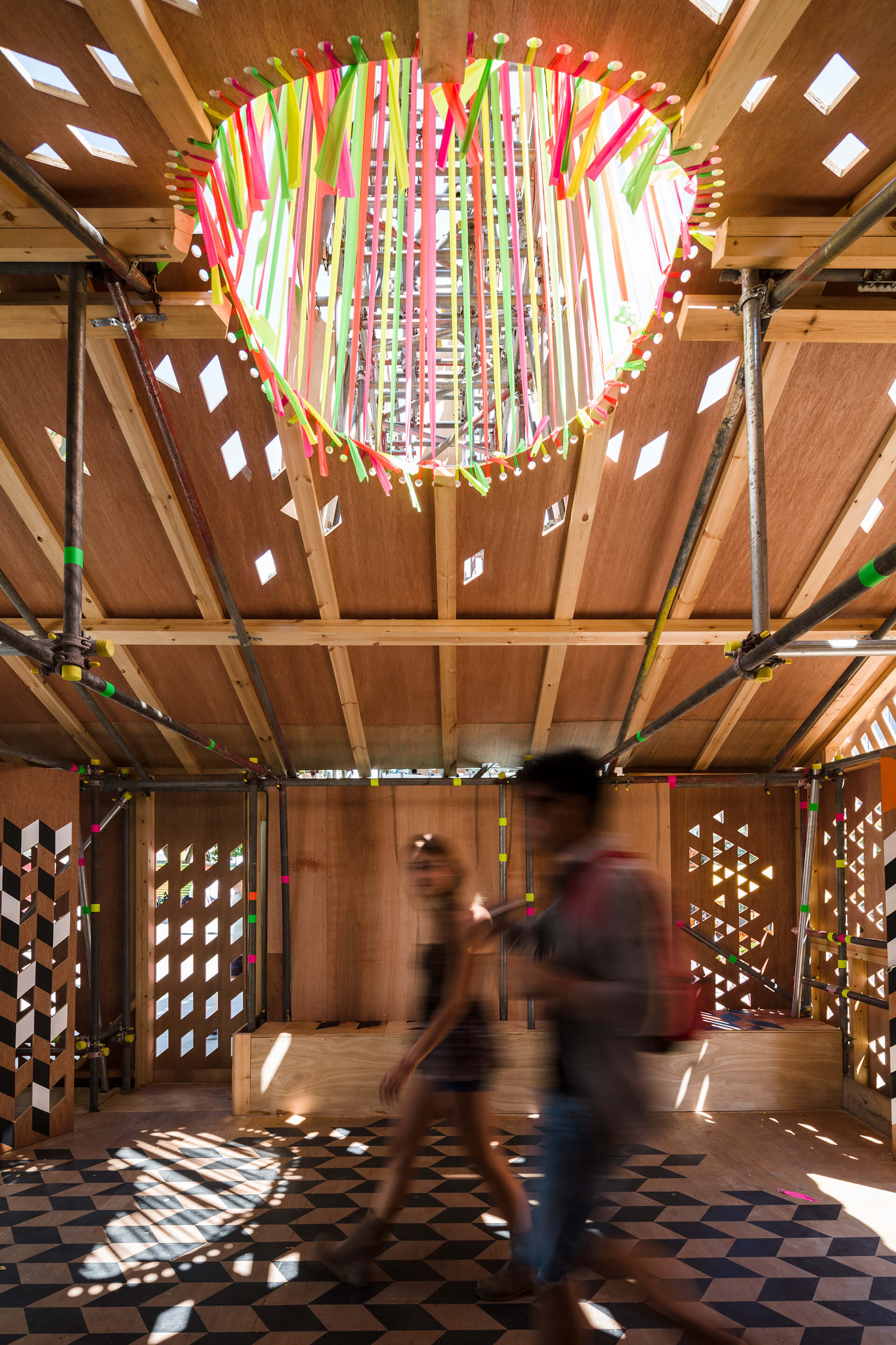 The temporary installation Temple of Agape celebrated the love of humanity | Morag Myerscough | Women in Design 2020 + | STIRworld