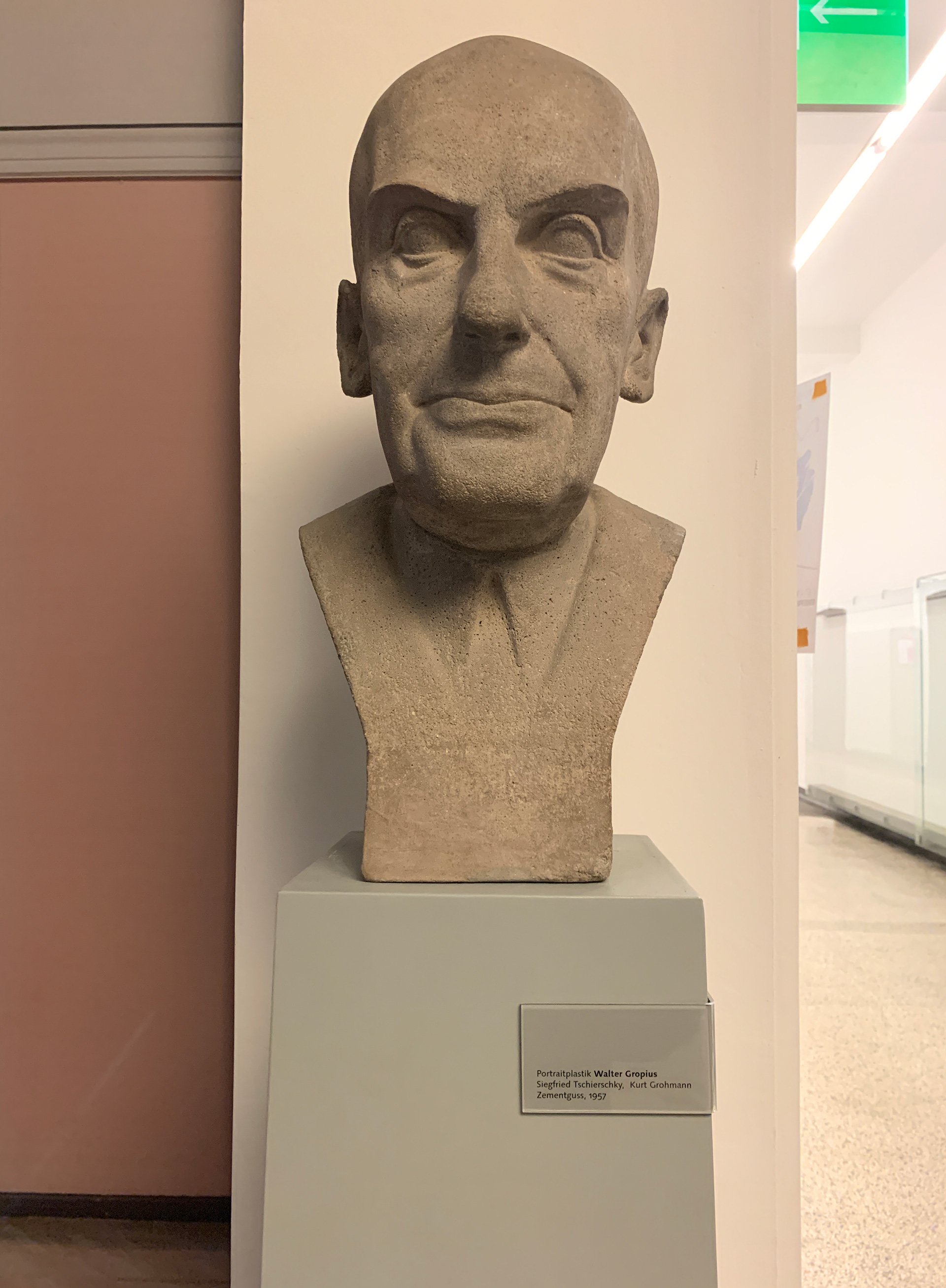 Bust of Walter Gropius at the Weimar Campus where the Bauhaus school started | Bauhaus | Germany | STIRworld