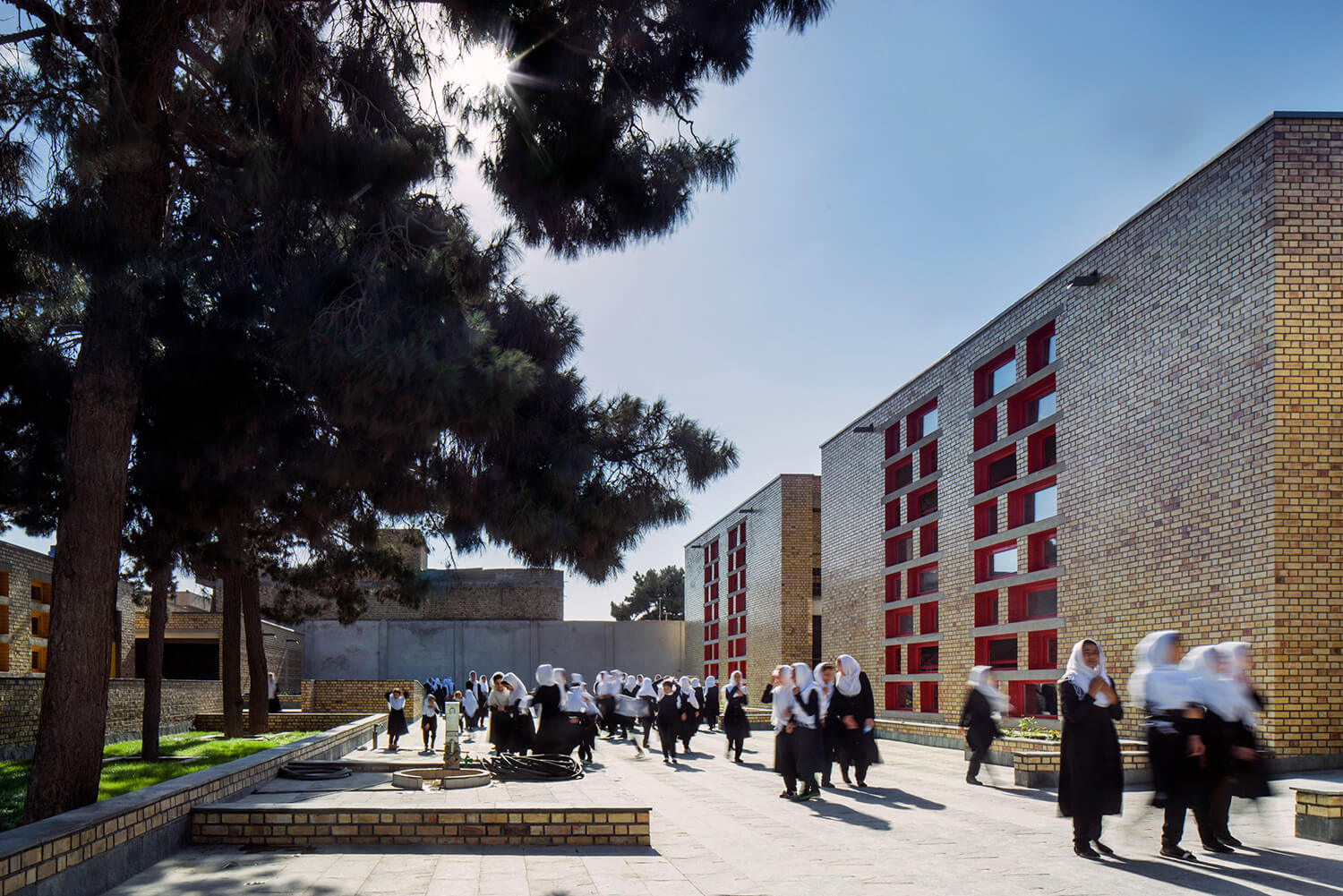 The Gohar Khatoon Girls School in Afghanistan is a 2,000 sqm complex that provides for kindergarten through grade 12, serving at least 3,000 students or more | Yasaman Esmaili | Studio Chahar | STIRworld