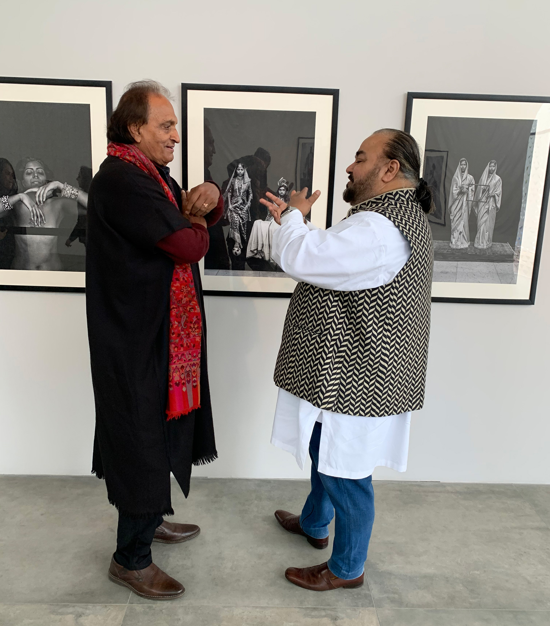 Raghu Rai and JJ Valaya discussing the nuances of photography | JJ Valaya and Raghu Rai at STIR Gallery | Lalaari | STIRworld