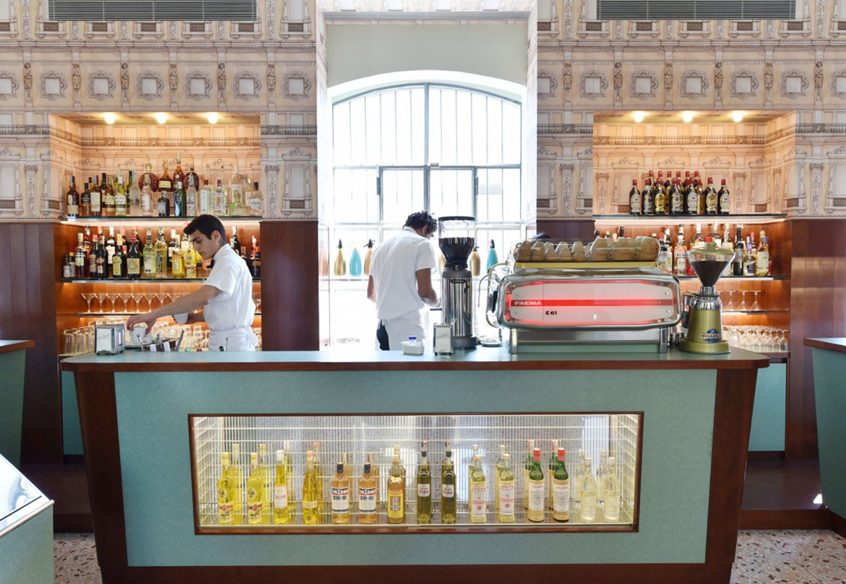 Fondazione PRADA, Bar Luce designed by Wes Anderson | Moments of Affection: Milanese Alliances (M.A.M.A.) | STIRworld