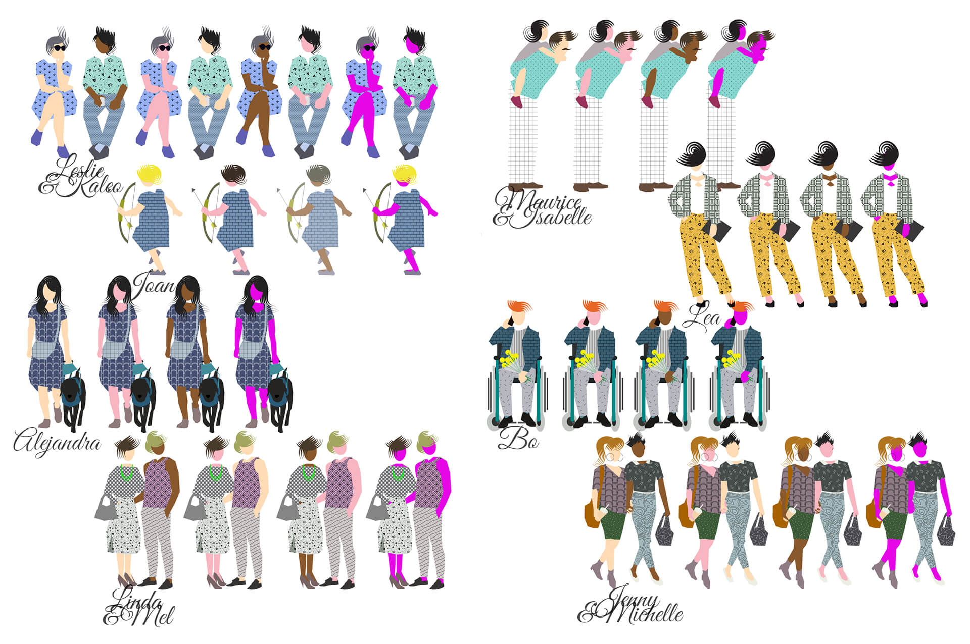 Architectural scale figures that show people of different genders, colour and abilities | Neutra Cutout Mix| Francesca Perani | STIRworld