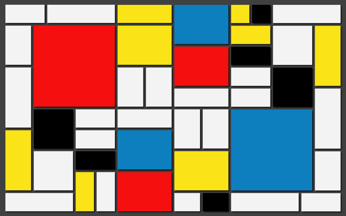 A painting by Piet Mondrian | Private Wellness Spa Pavilion  | Smartvoll Architects | STIRworld