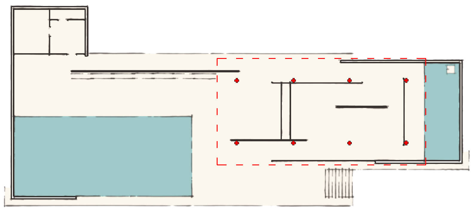 Plan of the Barcelona Pavilion | Private Wellness Spa Pavilion  | Smartvoll Architects | STIRworld