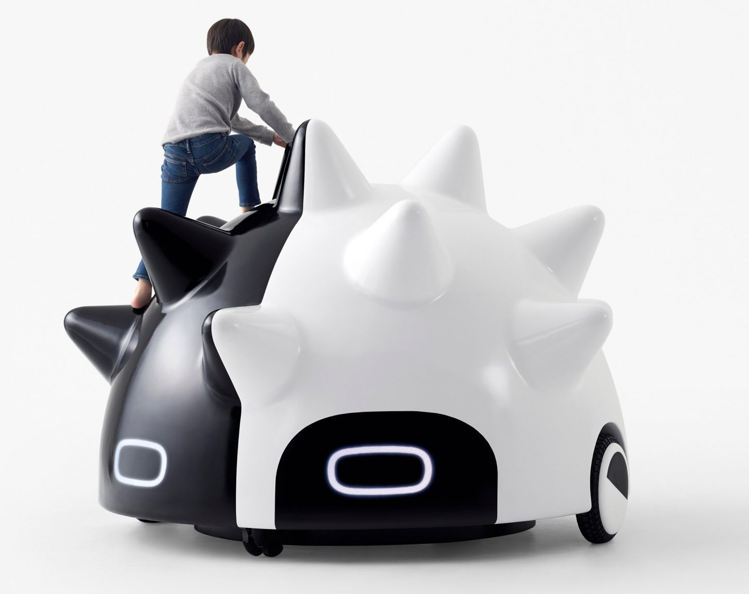 Mawaru comes with soft spikes that lets children climb its surface  | Nendo | Tokyo | STIRworld