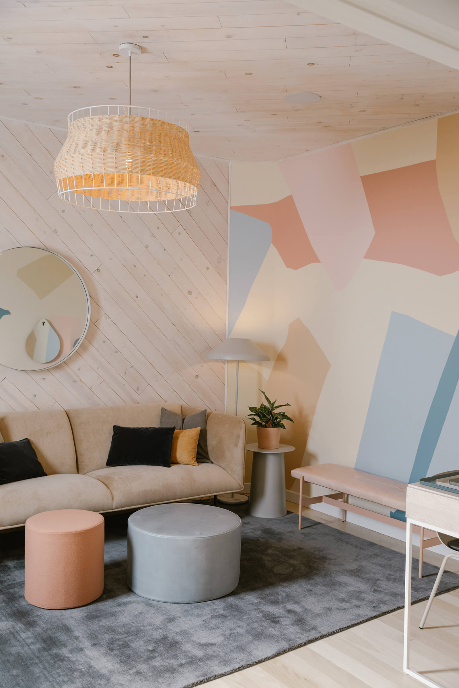 The light, pastel colour palette of the Ruby Street interiors | The Ruby Street in LA is a coworking space by Working Holiday Studio and Francesca De La Fuente | STIRworld