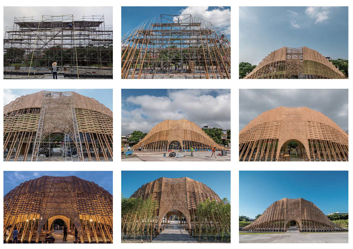 Bamboo Pavilion's construction process | Zuo Studio creates the Bamboo Pavilion for Taichung World Flora Exposition | STIRworld