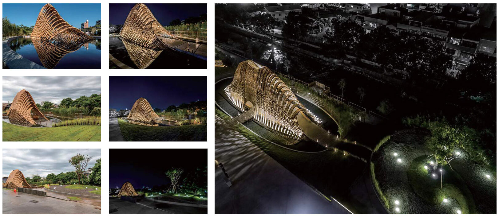 The pavilion was designed and constructed over 18 months | Zuo Studio creates the Bamboo Pavilion for Taichung World Flora Exposition | STIRworld