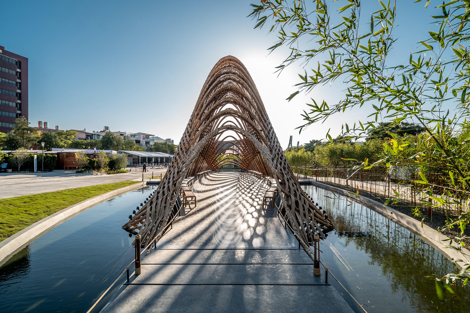 Bamboo as a building material shows tremendous potential, as seen from Zuo Studio's Bamboo Pavilion | Zuo Studio creates the Bamboo Pavilion for Taichung World Flora Exposition | STIRworld