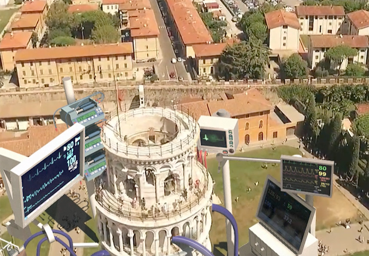 The video artwork for Leaning Tower of Pisa | VFX Installation on COVID-19 | Hamid Ebrahimnia and Studio 3City | STIRworld
