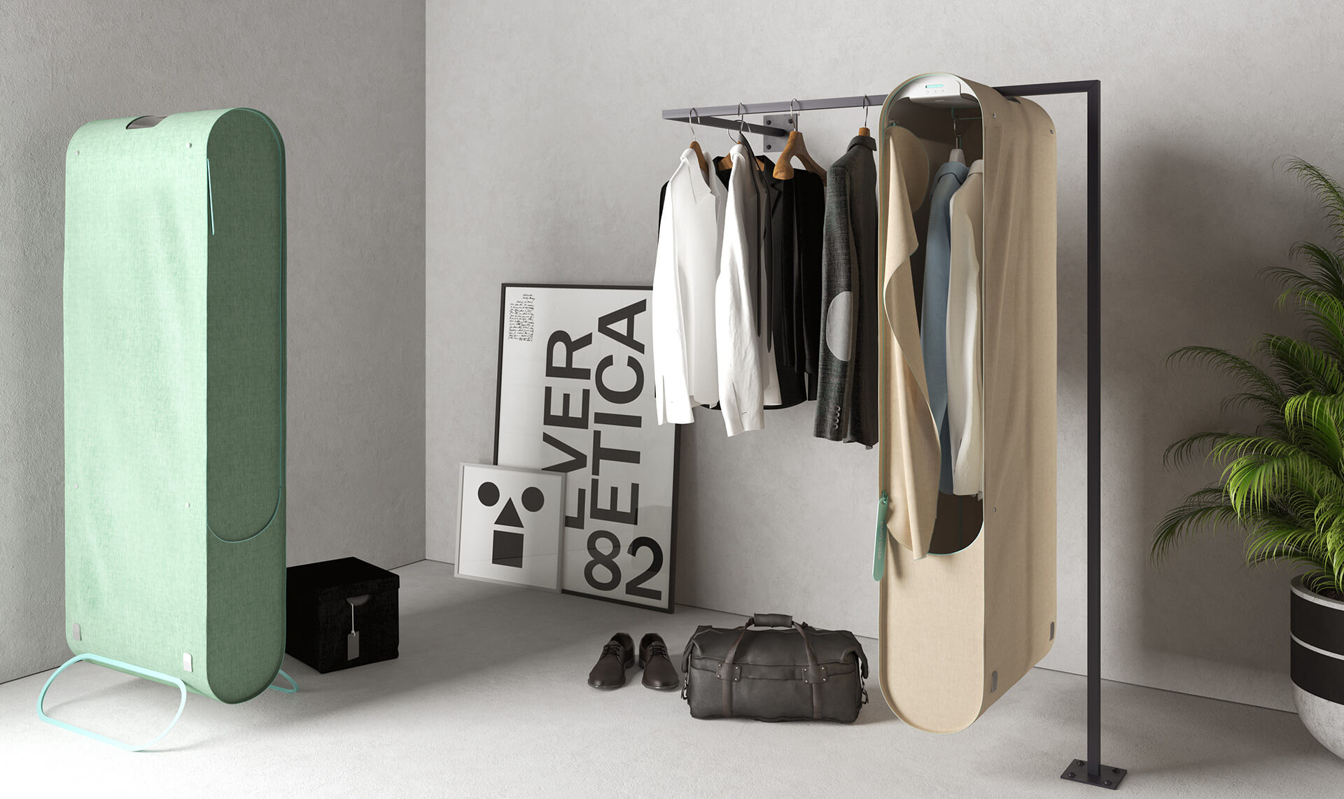 Pura-Case is a portable wardrobe purifier that uses ozone to sanitise fabric | Pura-Case by Carlo Ratti Associati | STIRworld