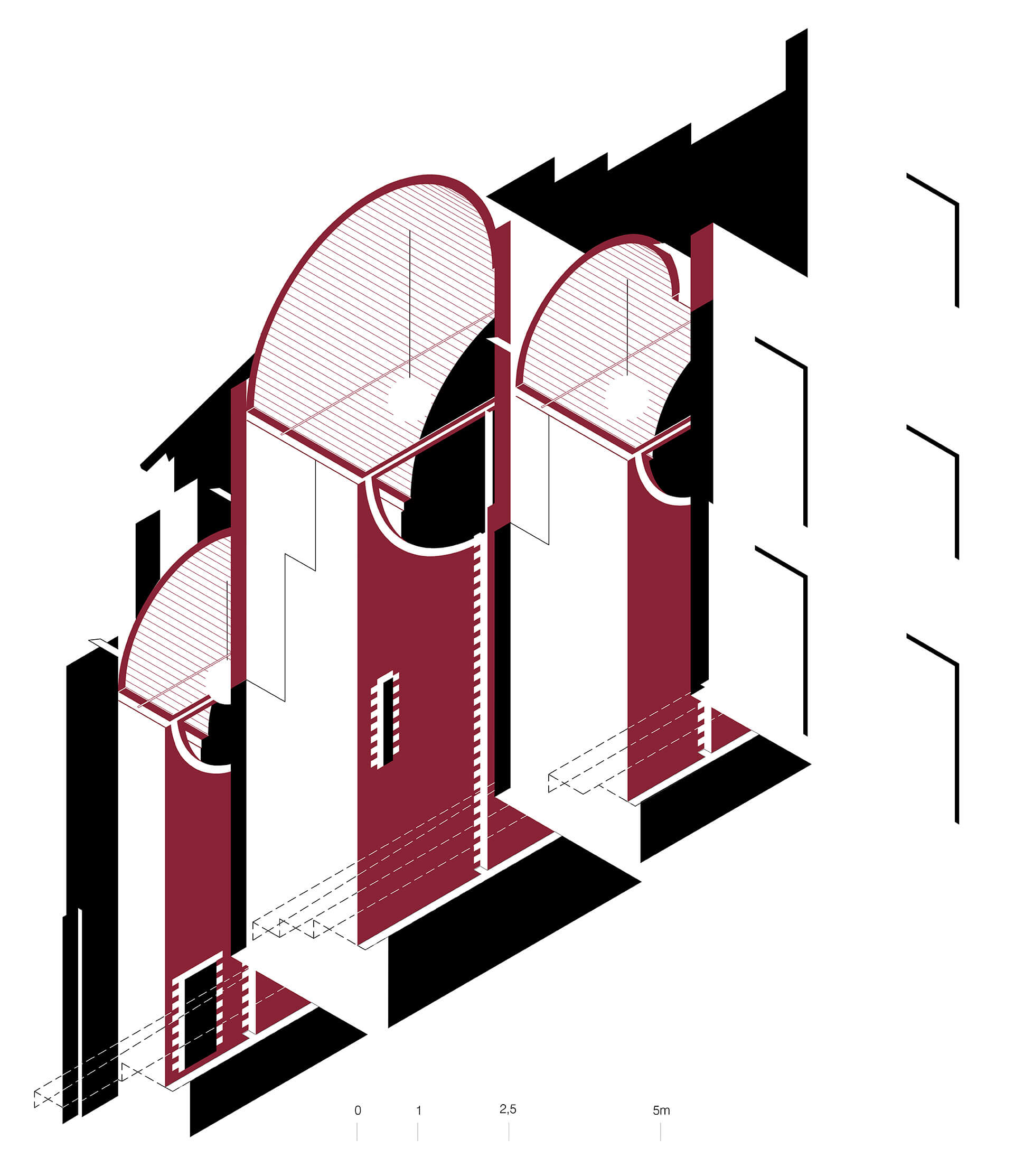 Sectional Isometric | Can Sau. Emergency Scenery | unparelld'arquitectes | STIRworld