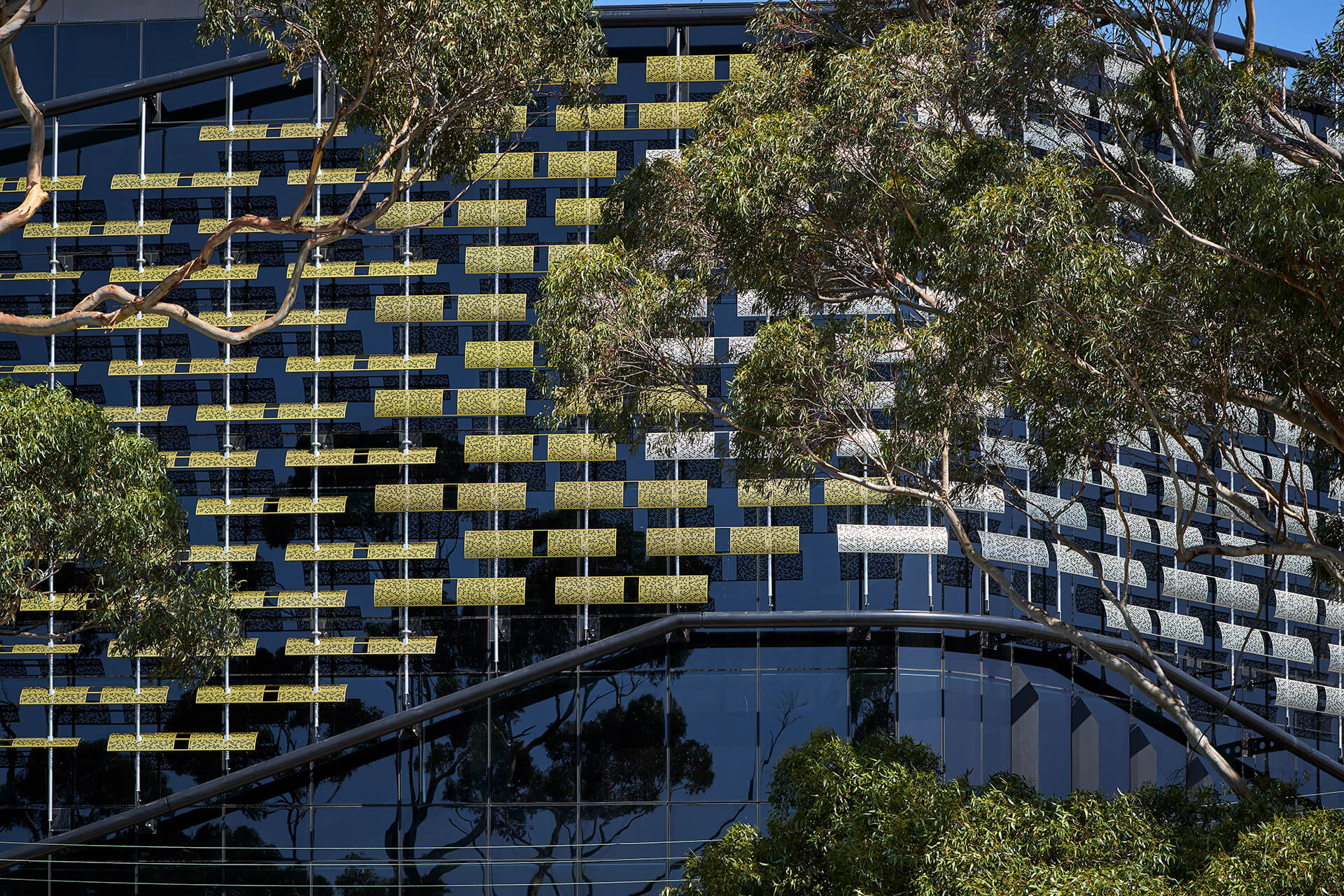 The colourful perforated screen of the Botanicca building 3 in Melbourne | Botanicca | Gray Puksand | STIRworld