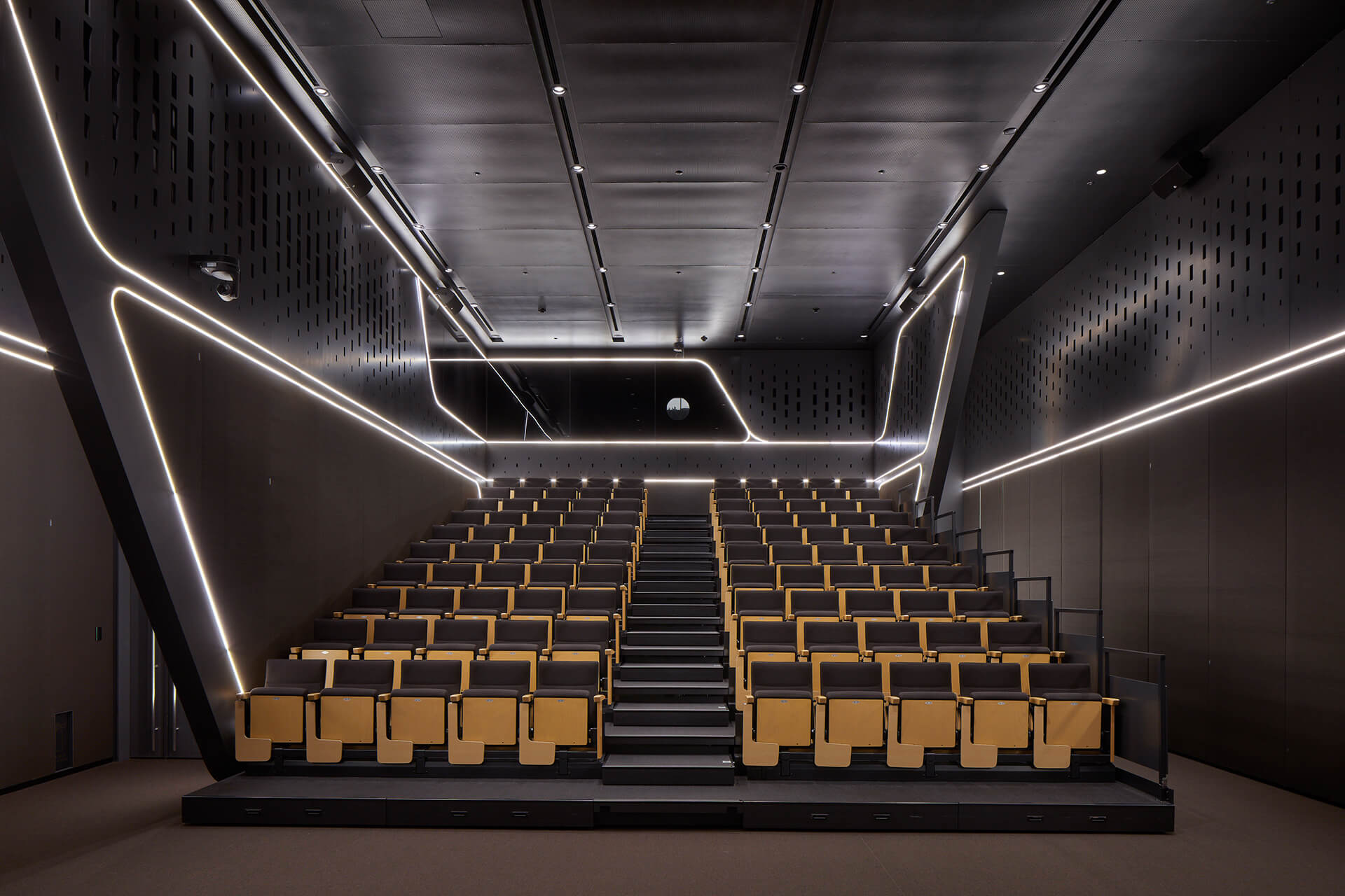 Inside the Hanwha Headquarters' auditorium | Hanwha Headquarters Remodelling by UNStudio | STIRworld
