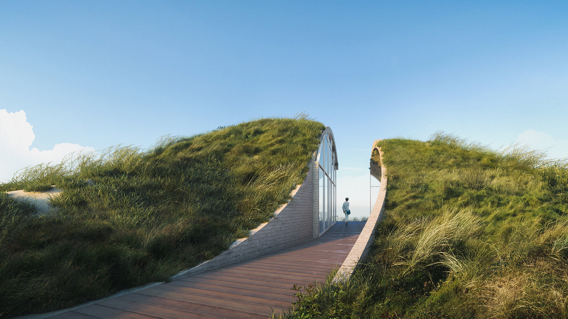 A breezeway divides the Dune House at its centre | Dune House by Studio Vural | STIRworld