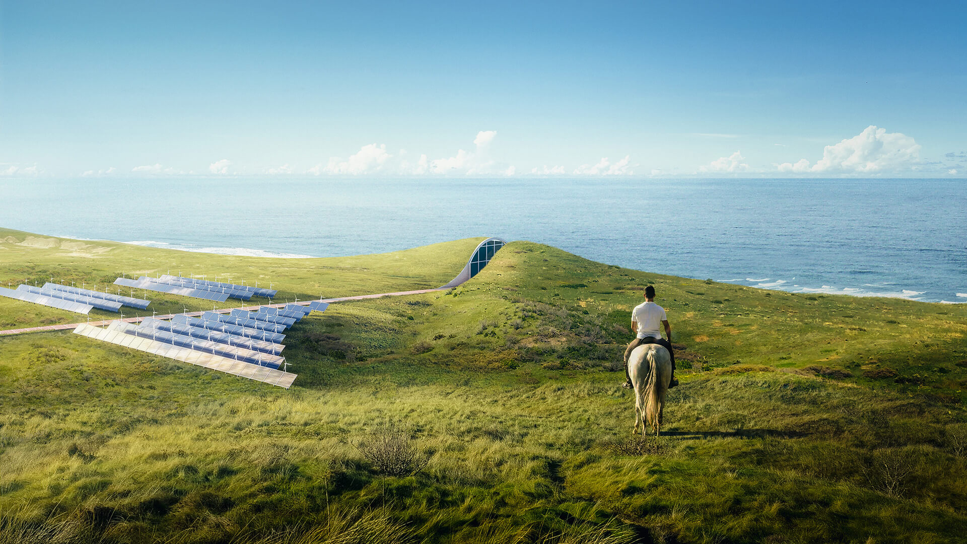 The dwelling will be powered by geothermal energy, a power field fixed with solar panels and miniature wind turbines | Dune House by Studio Vural | STIRworld