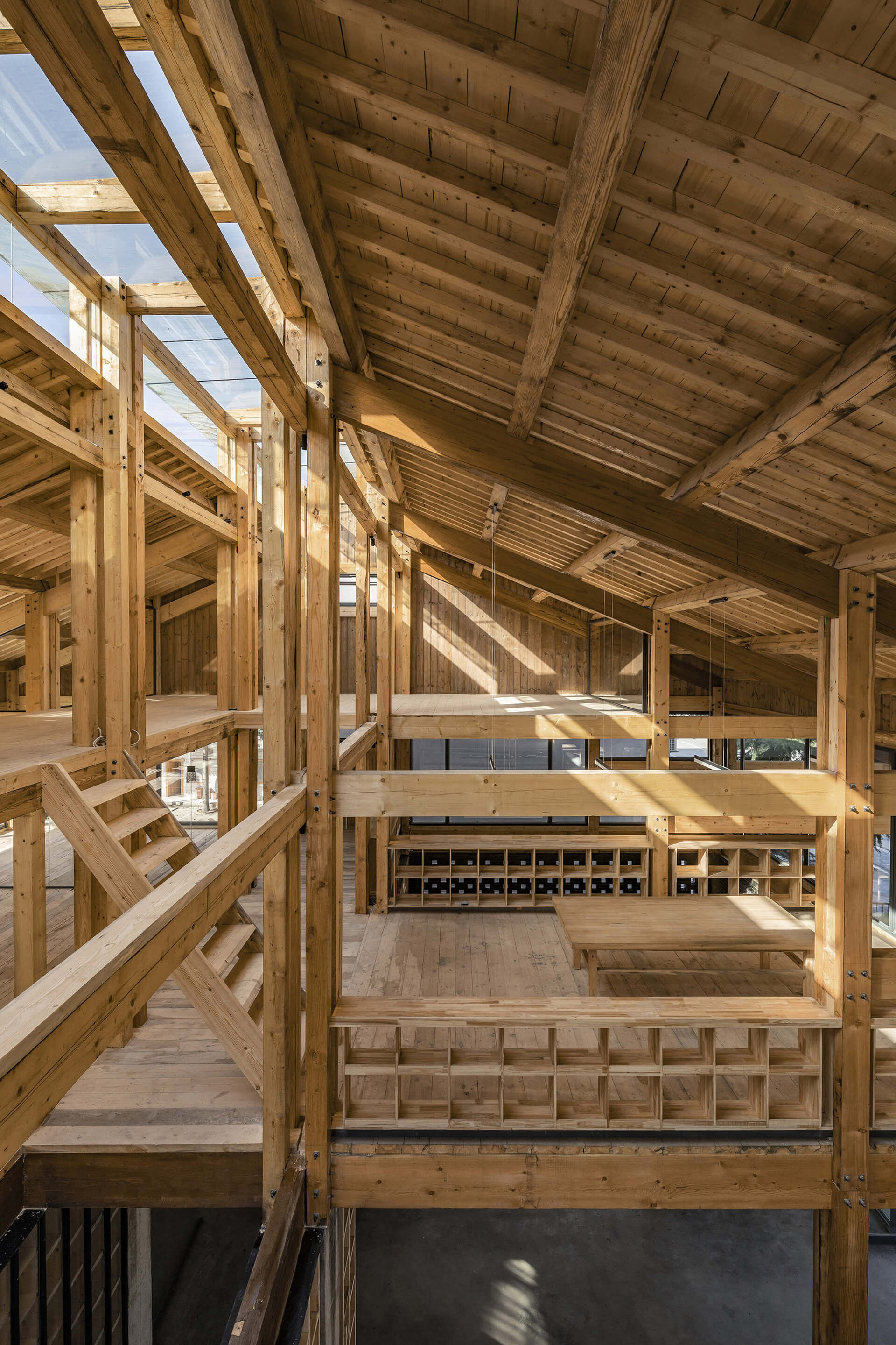Prefabricated timber framework makes up the upper storey | Party and Public Service Center of Yuanheguan Village by LUO Studio | STIRworld