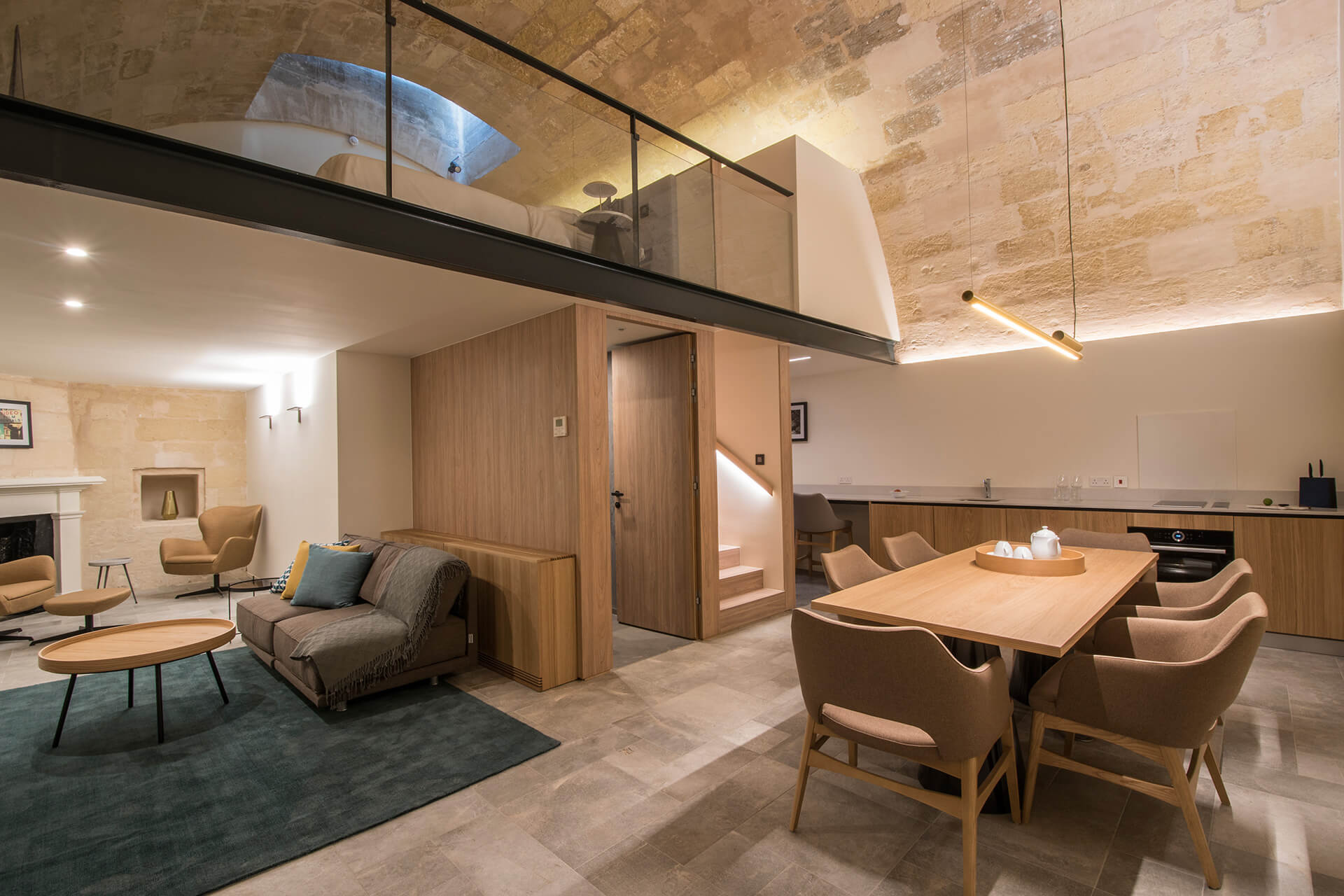 Macina Grand Harbour Suite Kitchenette and Lounge from main door | DAAA Haus wins German Design Award 2020 for Cugó Gran Macina Grand Harbour | STIRworld