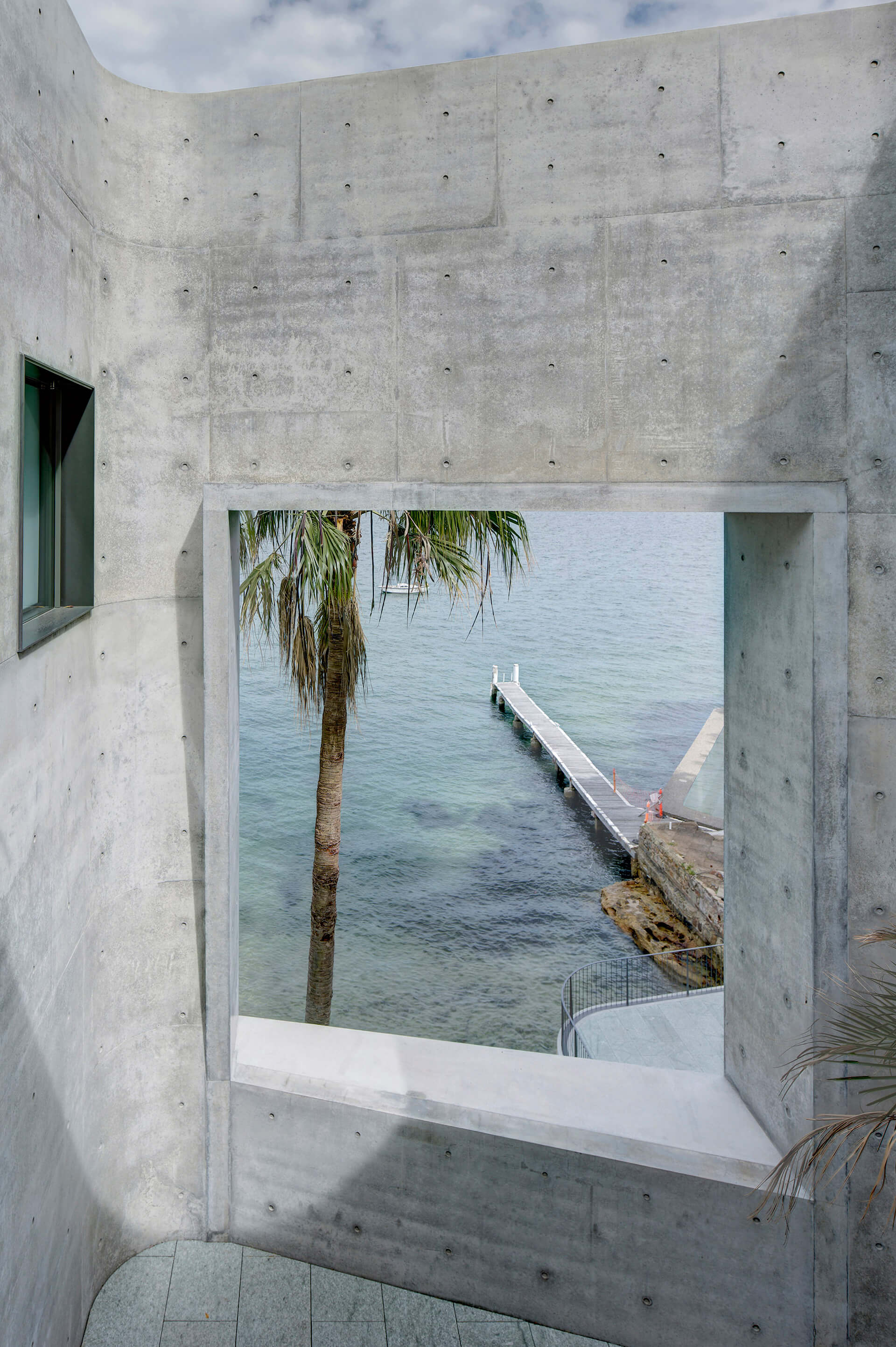 View of the private beach from the upper level  | House Taurus | Durbach Block Jaggers Architects | STIRworld