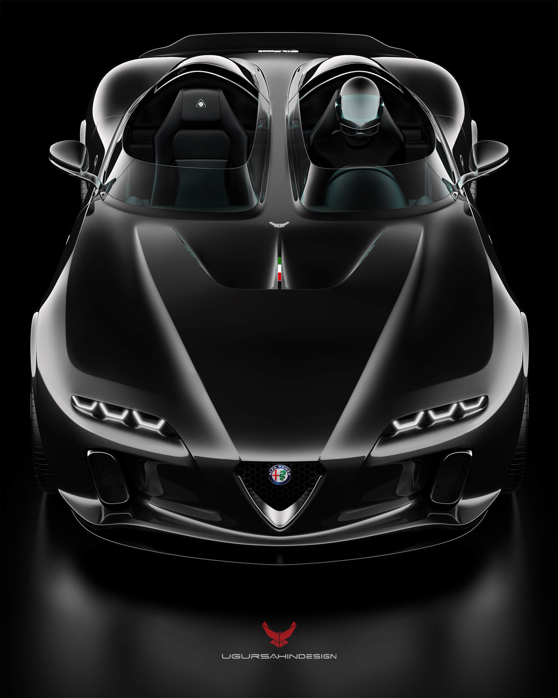 Alfa Romeo Usd Barchetta Concept Car With Separated Cockpits Distancing Intact