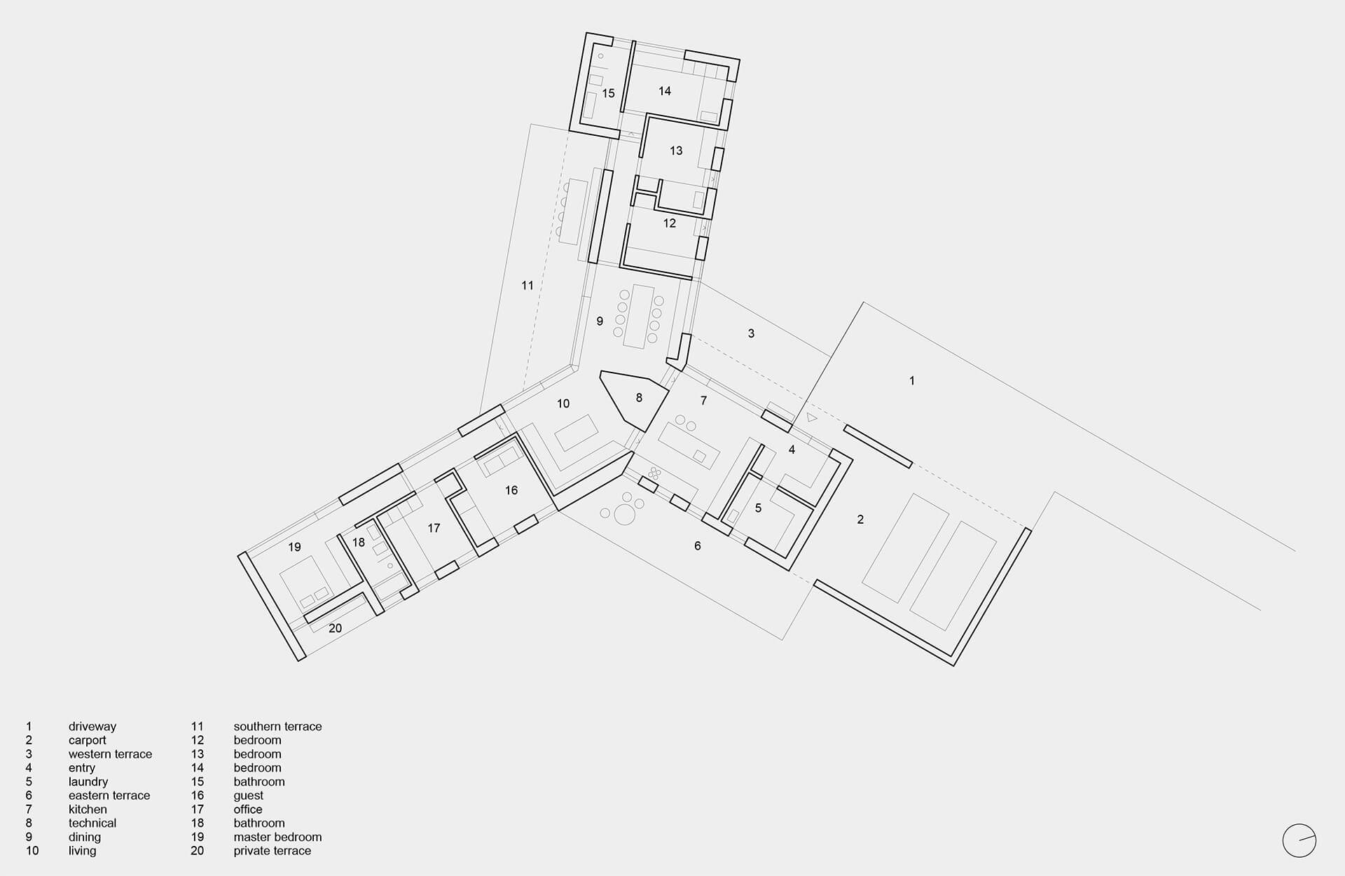 Plan | Villa Korup designed by Jan Henrik Jansen Arkitekter with Marshall Blecher | STIRworld