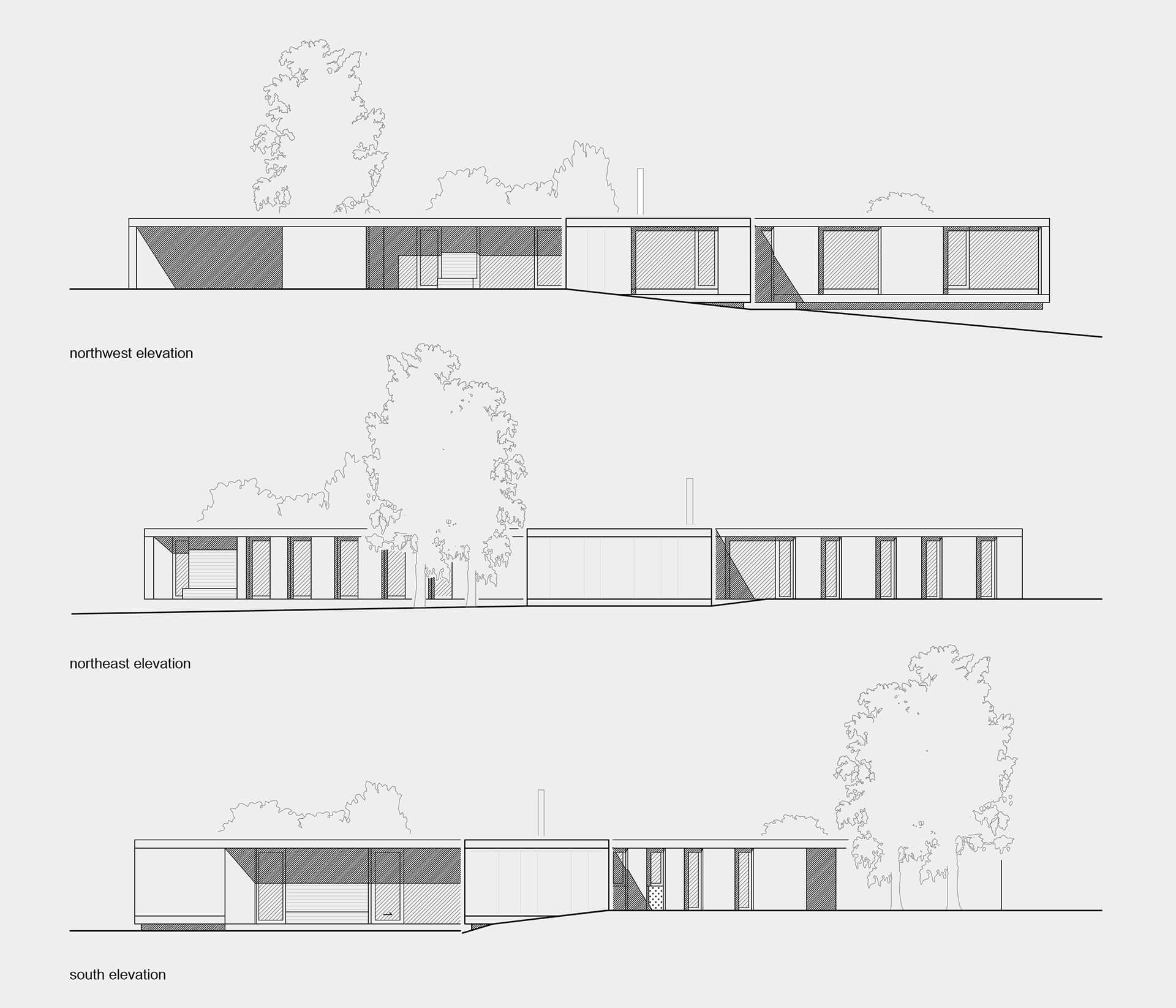 Elevations | Villa Korup designed by Jan Henrik Jansen Arkitekter with Marshall Blecher | STIRworld