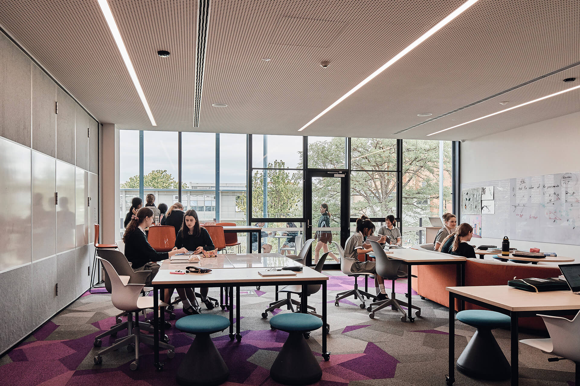 Learning spaces or home-rooms on the upper level | MLC Nicholas Learning Centre by Mcildowie Partners | STIRworld