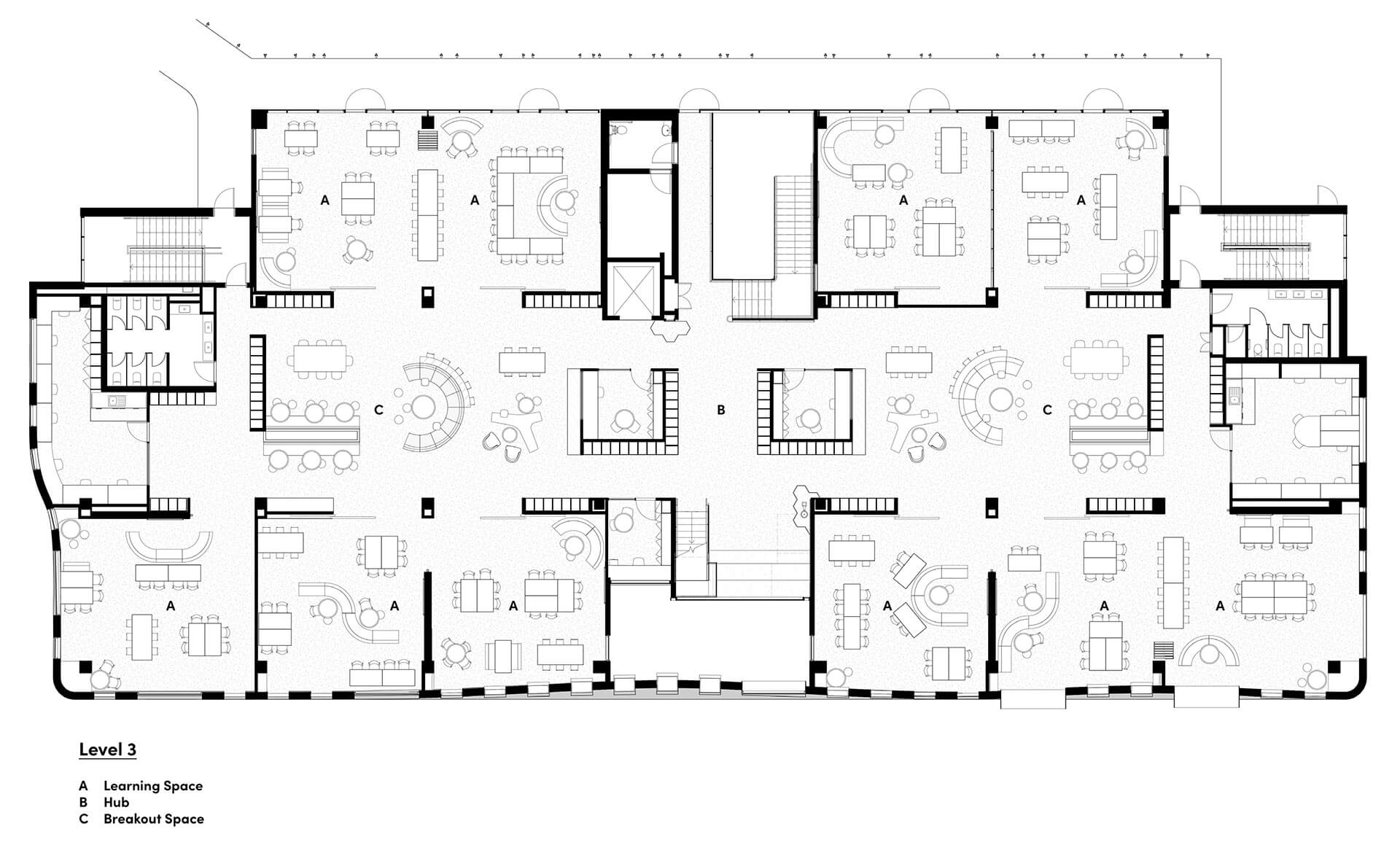 Plan – Level 3 | MLC Nicholas Learning Centre by Mcildowie Partners| STIRworld