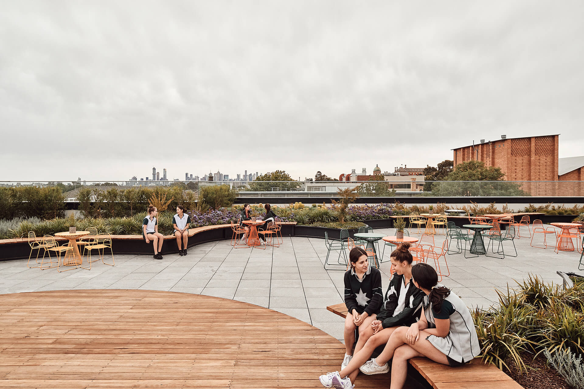 The rooftop terrace, which opens opportunities for outdoor learning | MLC Nicholas Learning Centre by Mcildowie Partners| STIRworld