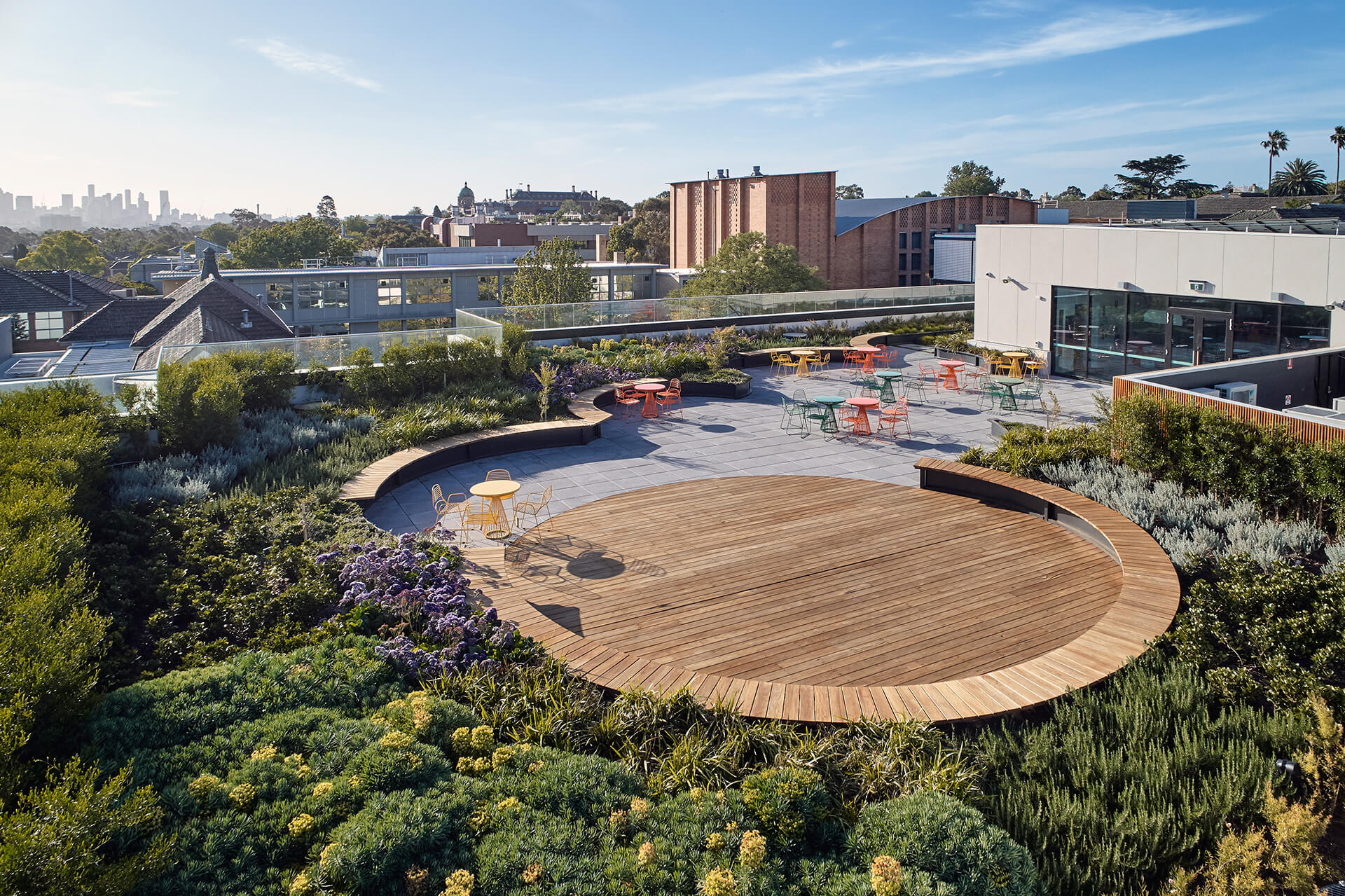 The green roof creates a sense of openness and brings natural light into the adjoining spaces | MLC Nicholas Learning Centre by Mcildowie Partners | STIRworld
