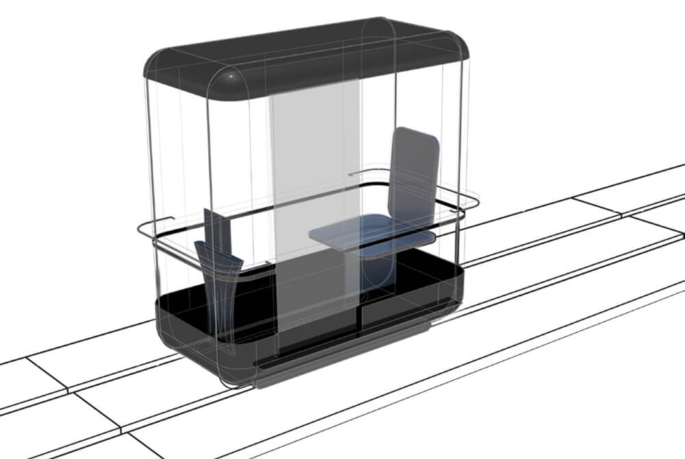 Personalised capsule designed for a single commuter | Capsule for Automated Travel | Architecture Discipline| STIRworld