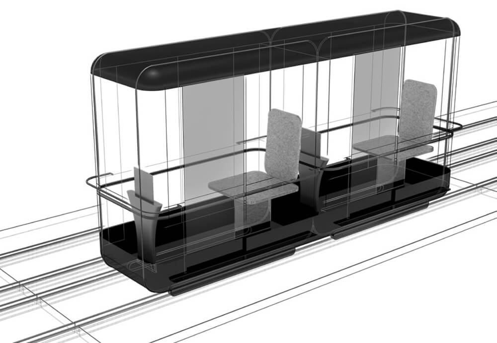 Personalised capsules designed for two people | Capsule for Automated Travel | Architecture Discipline| STIRworld