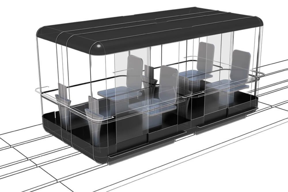 Personalised capsules for four commuters | Capsule for Automated Travel | Architecture Discipline| STIRworld