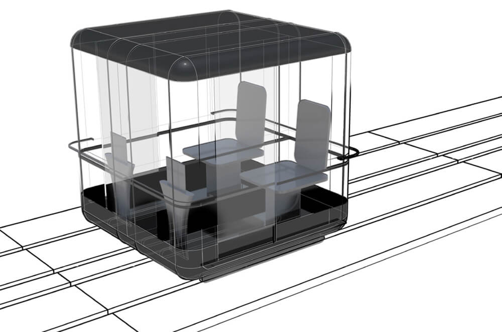 A variation for the vehicle designed for two commuters | Capsule for Automated Travel | Architecture Discipline| STIRworld