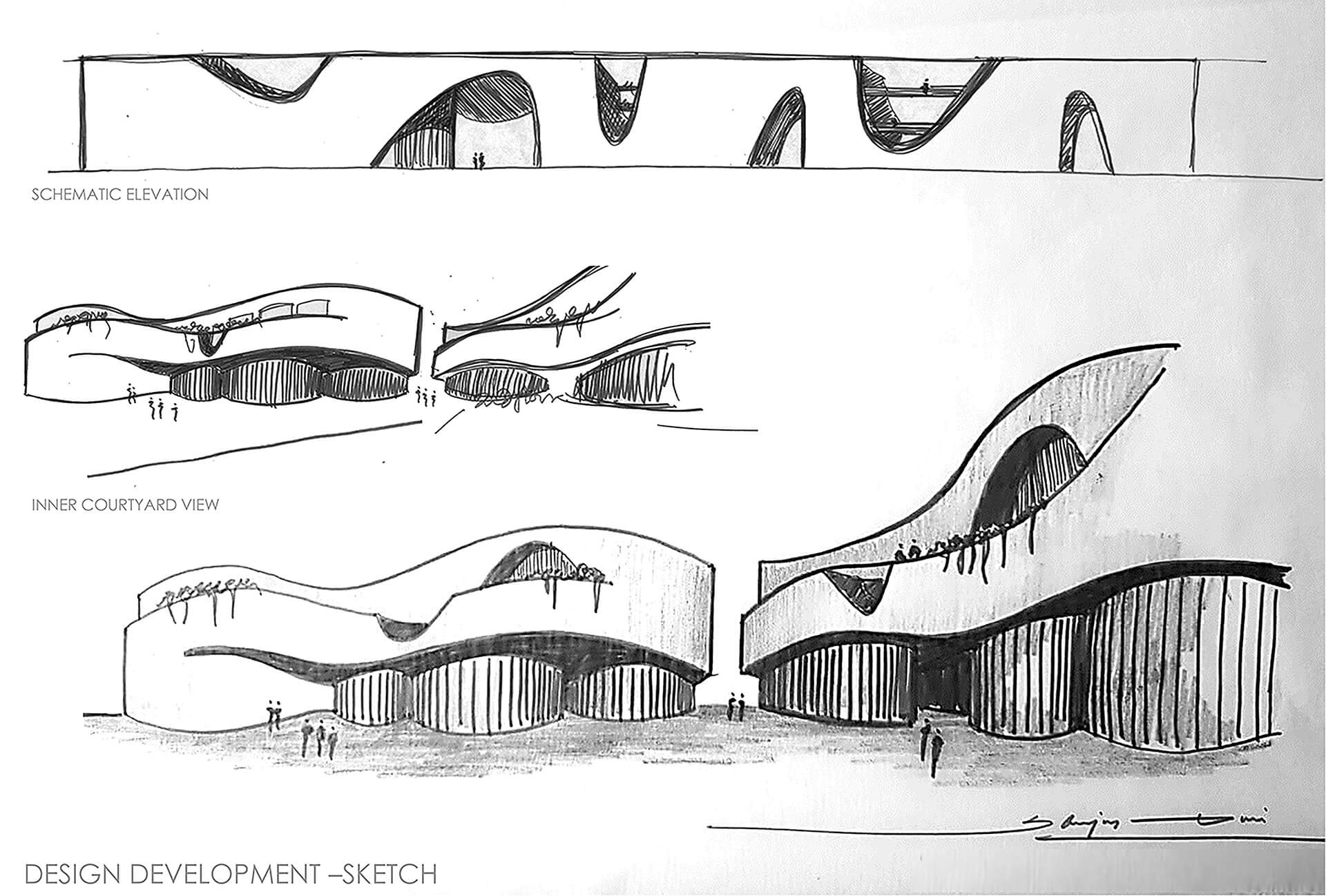 Conceptual sketch of Learning Curves, Raipur | Learning Curves in Raipur by Sanjay Puri Architects | STIRworld