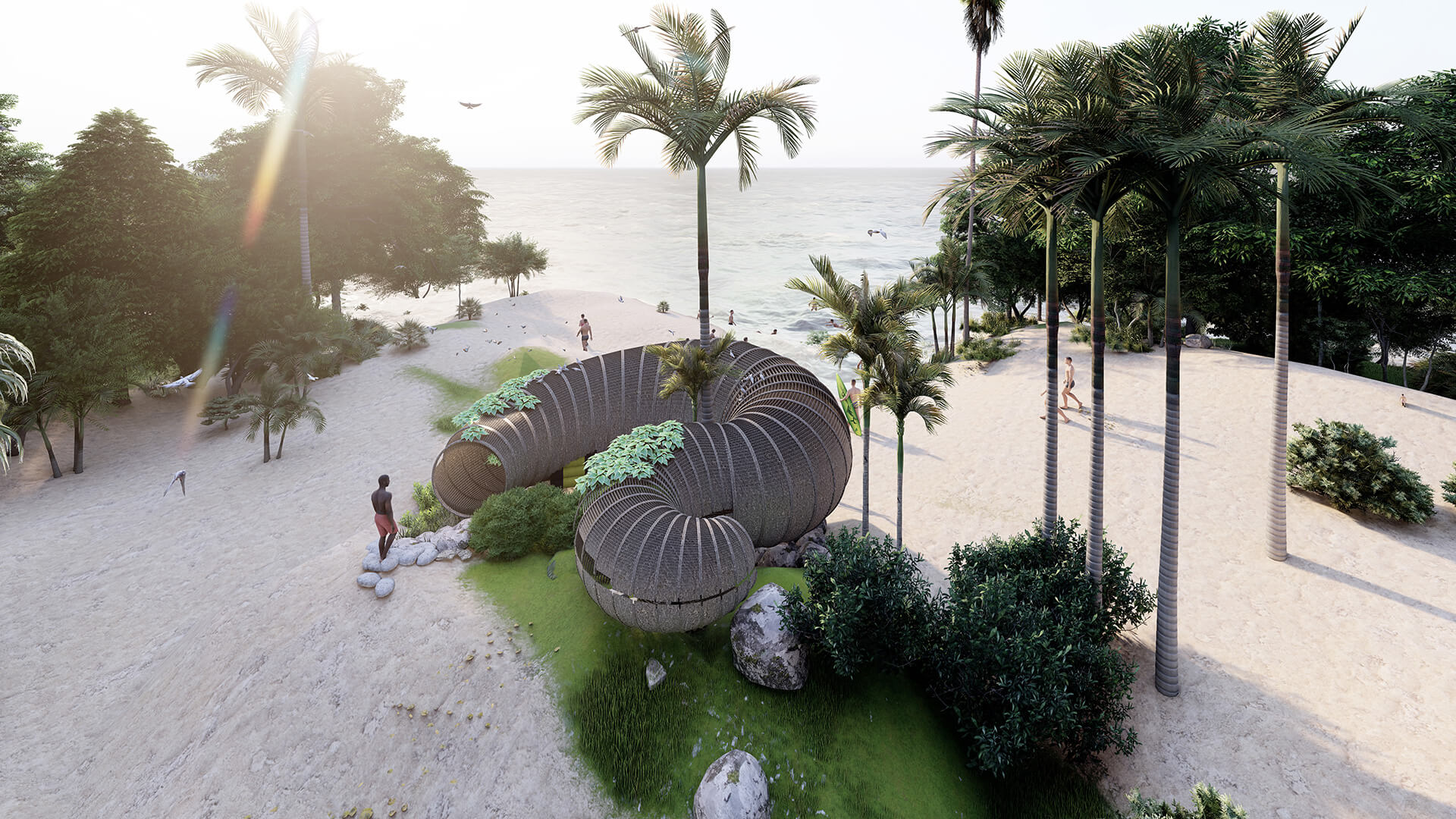 The proposed Beach Hut design attempts to bring the travel and crafts communities in Goa together | Beach Hut | Busride Design Studio | STIRworld