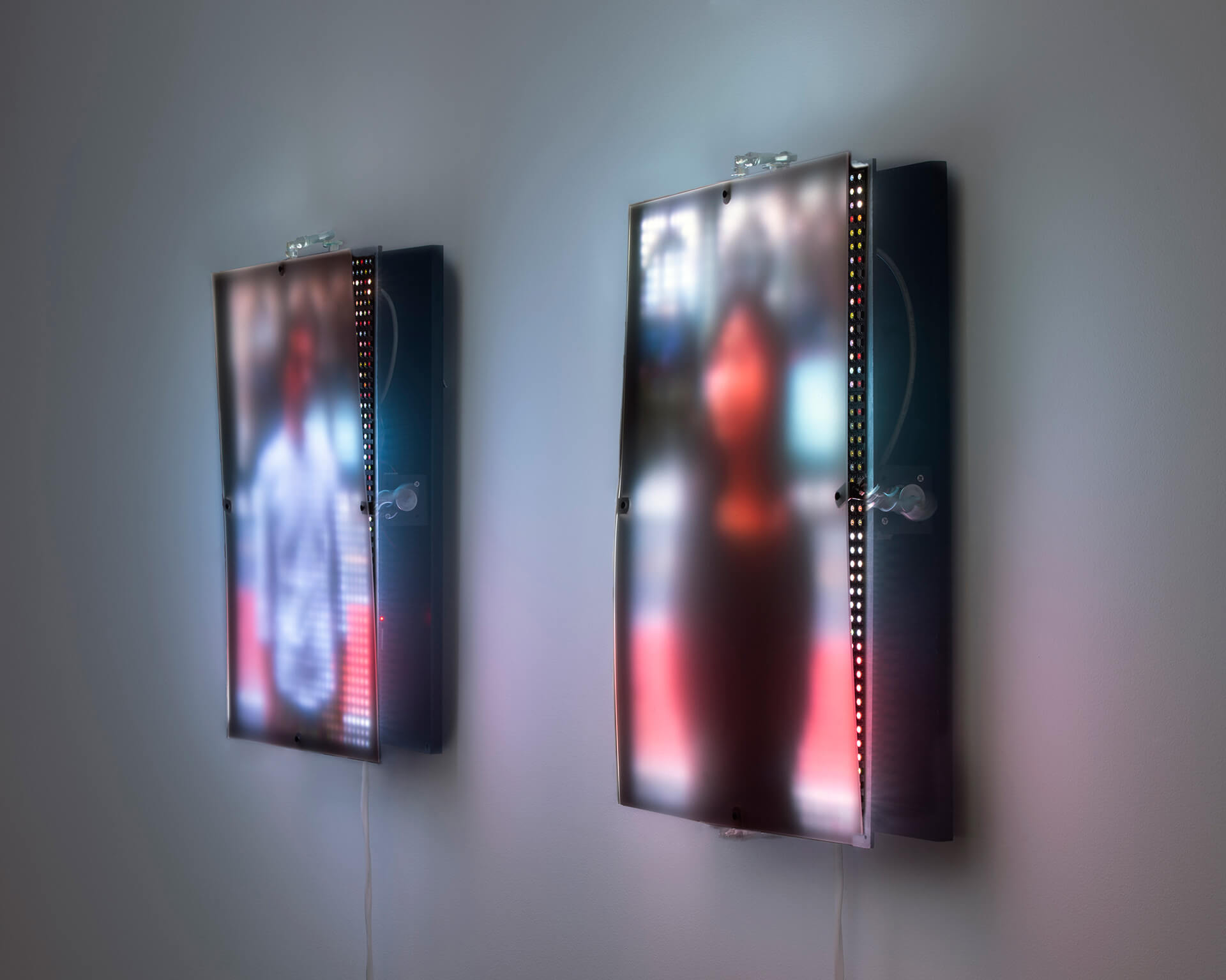 'Seen at a Distance' (2020) is a series of light portraits by Chamo, which uses diffusion materials and elevations to distort the image | Sheer Appearances | Barak Chamo | STIRworld