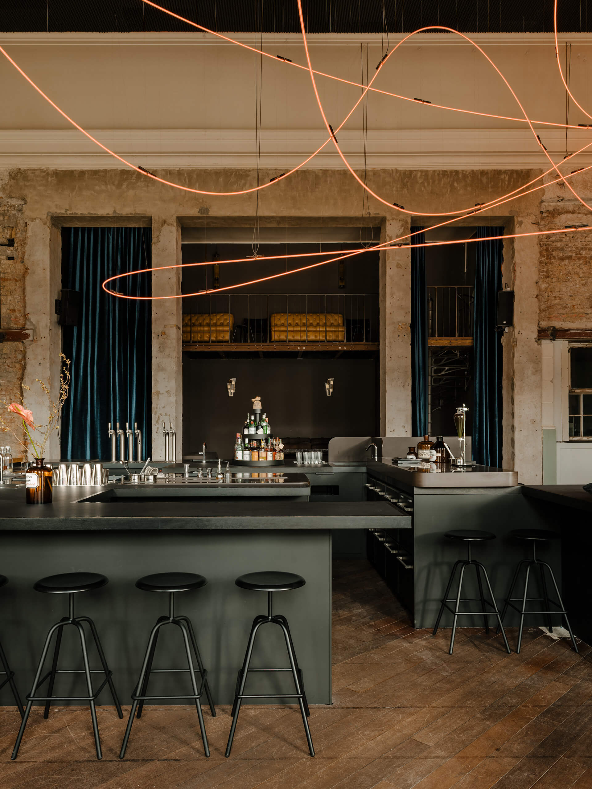 KINK Bar was designed in collaboration with Hidden Fortress | KINK Bar and Restaurant by Oliver Mansaray and Daniel Scheppan | STIRworld