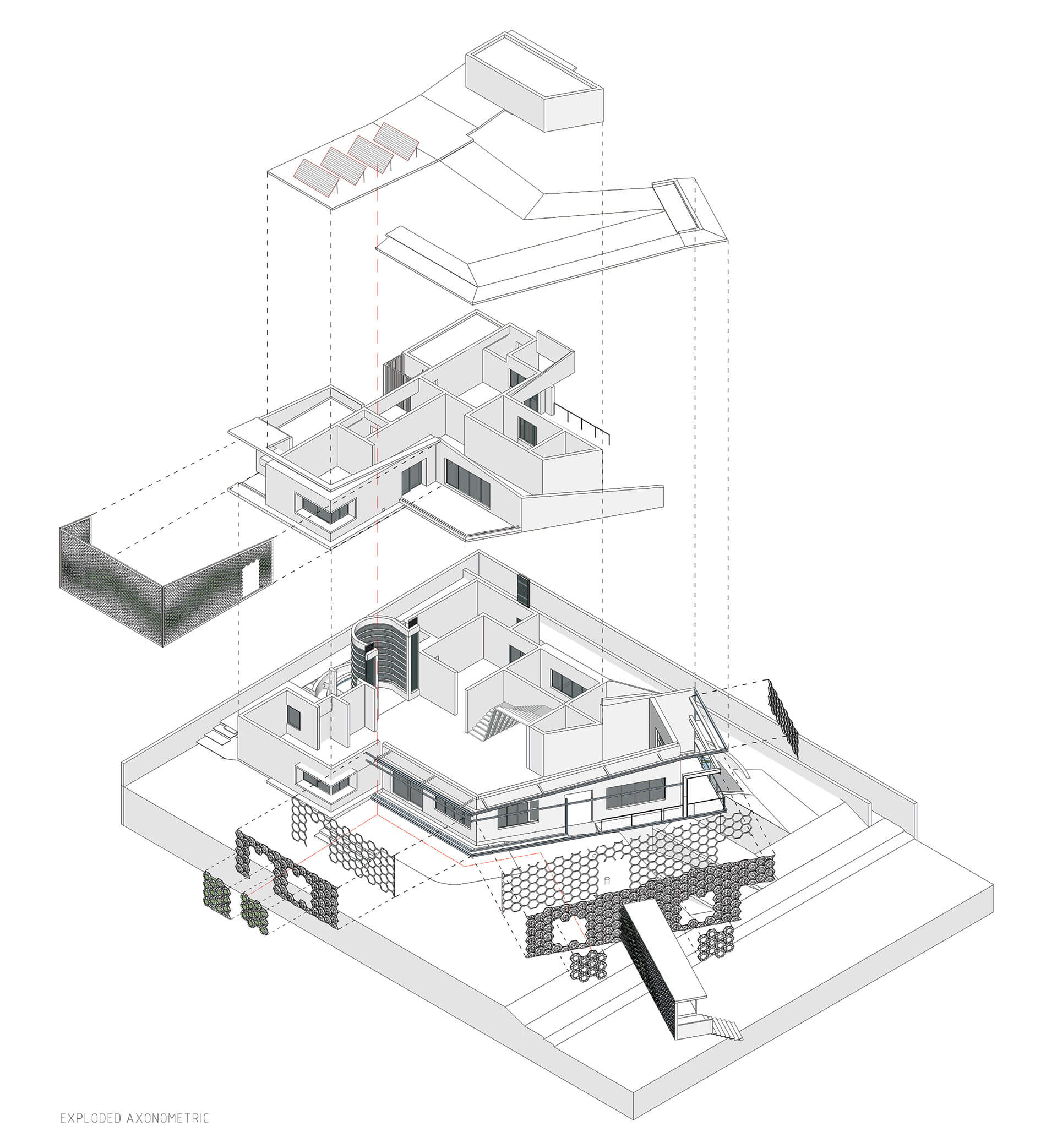 Axonometric diagram of the Hive house | Hive| Openideas Architects| STIRworld