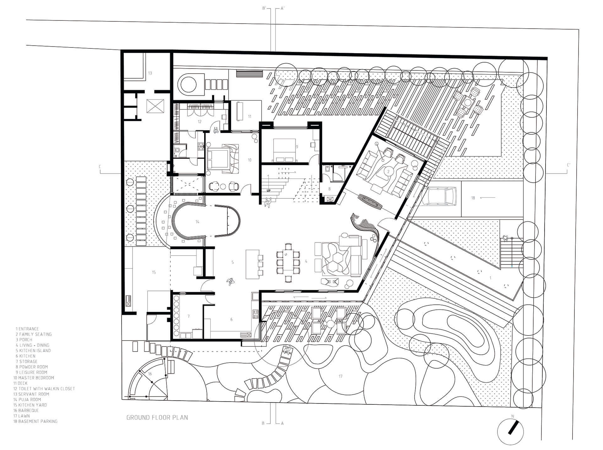 Ground floor plan of Hive | Hive | Openideas Architects| STIRworld