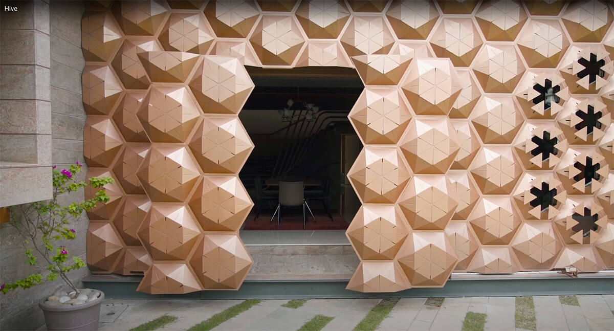 Hive, a family home in Surat, inspired by the organic form of honeycomb, designed by Openideas architects | Hive| Openideas Architects| STIRworld