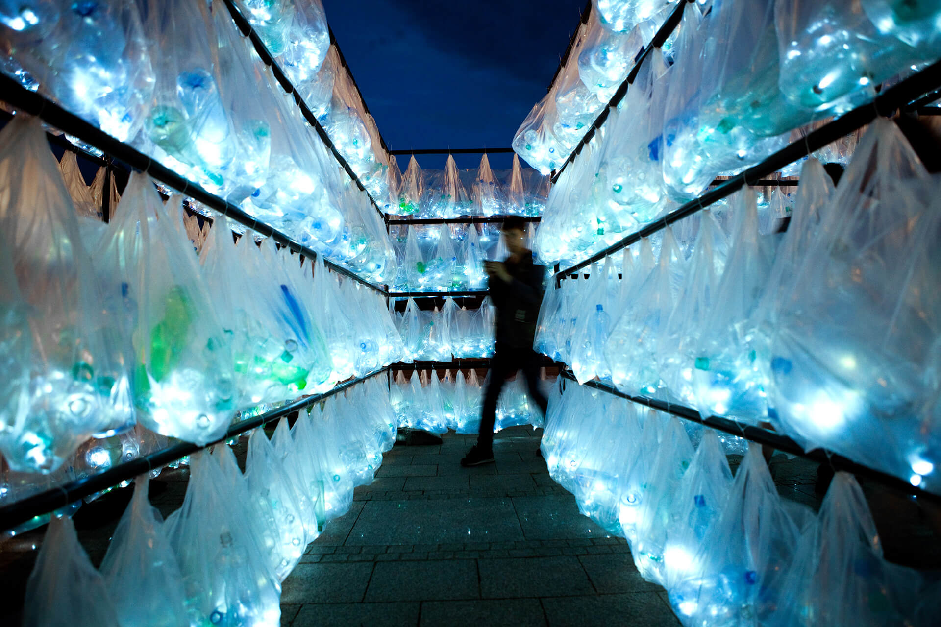 'Plastic Waste Labyrinth' by anonymous art collective Luzinterruptus | STIRworld
