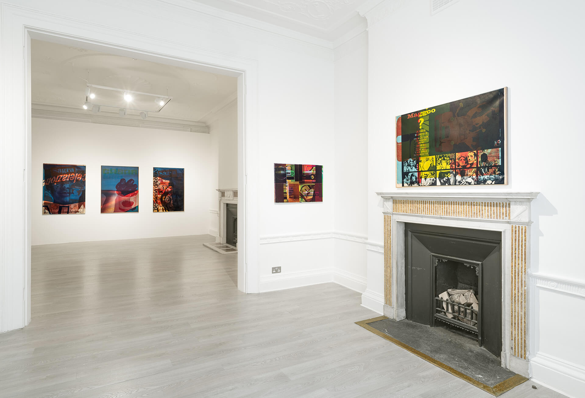 Installation view at Cardi Gallery. Photo by Eric Mouroux for Kitsch Studio | Mimmo Rotella. Beyond Décollage: Photo Emulsions And Artypos 1963 - 1980| Mimmo Rotella | Stirworld