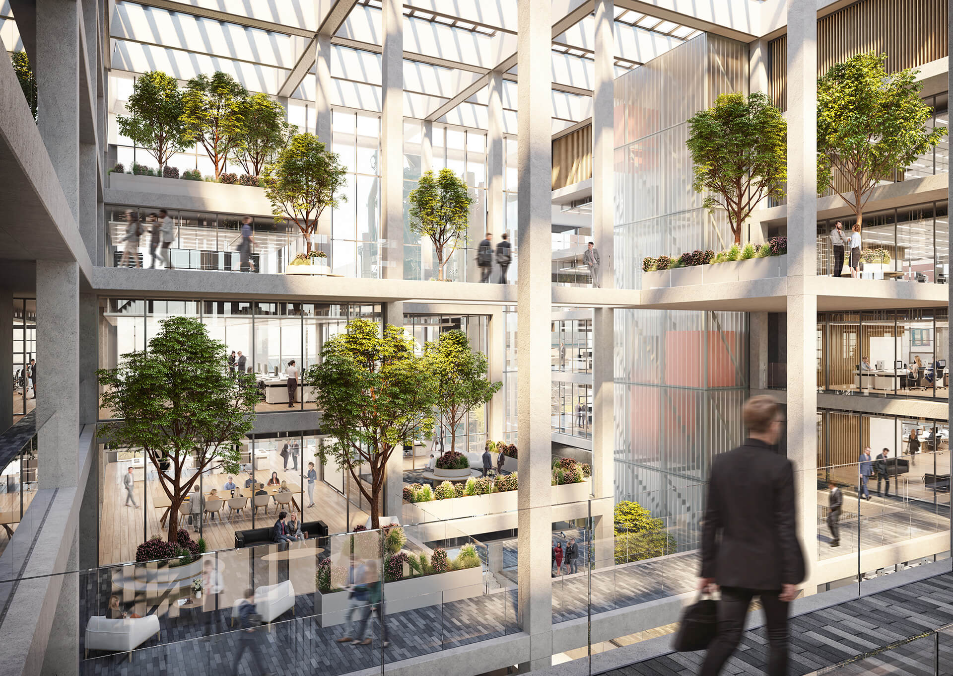 The ICÔNE project has been punctured with multiple green spaces | Icône office complex | Foster + Partners | STIRworld