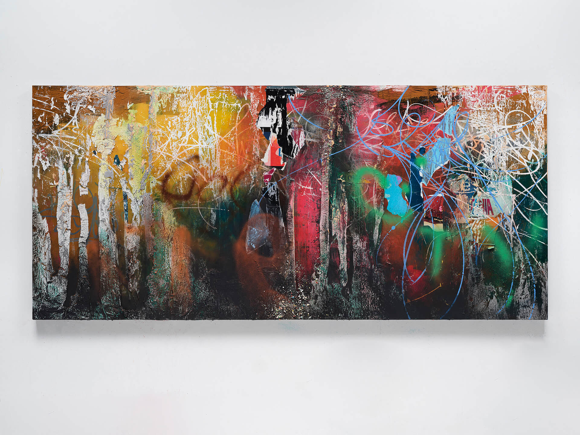 'Common Talk Deserves a Walk, The Situation's Changed', 2020 (60 x 132 inches) |It's Yours| José Parlá| STIRworld