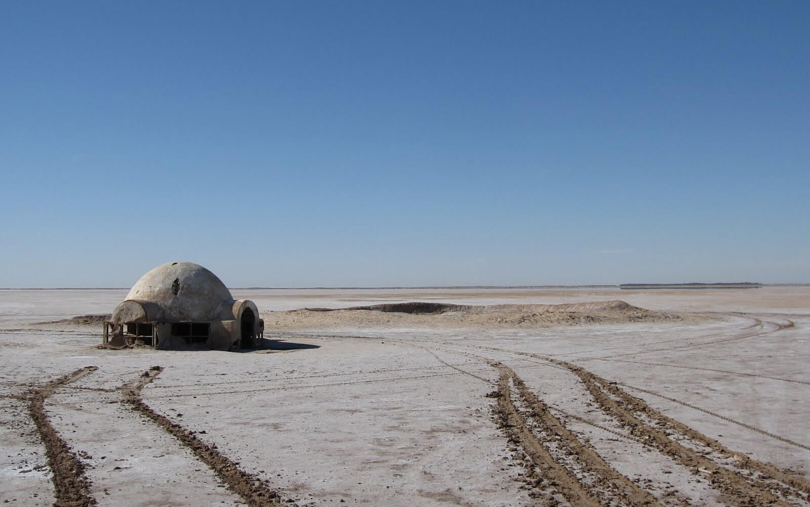 Chott el-Jerid, remains of the set at one of the filming locations used for the Lars Homestead in Star Wars franchise | Yeezy Home by Kanye West| STIRworld