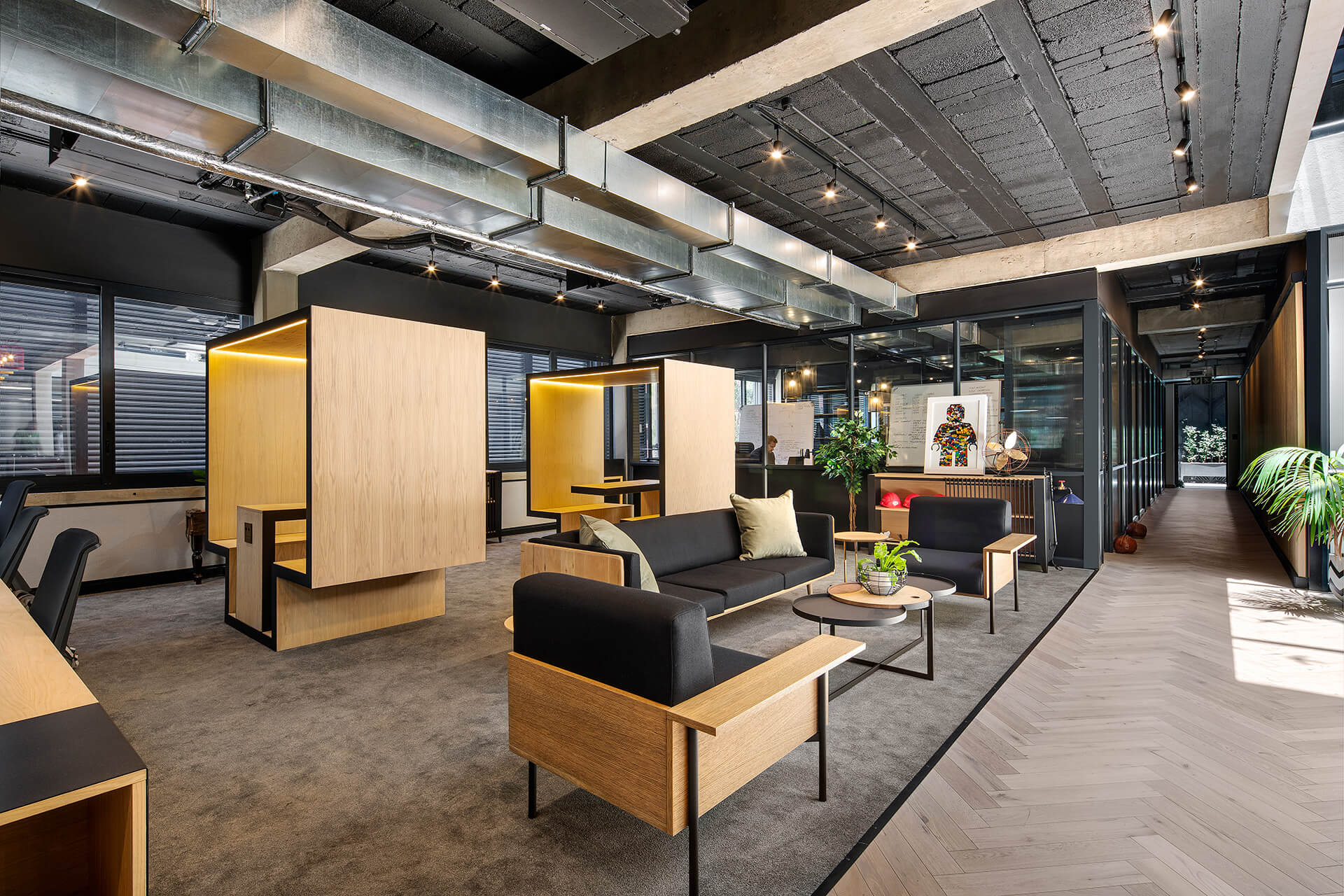 Commercial spaces on the upper floor | 78 Corlett Drive | Daffonchio and Associates Architects | STIRworld